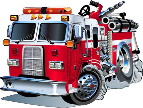 Sticker enfant Camion de Pompier 3548