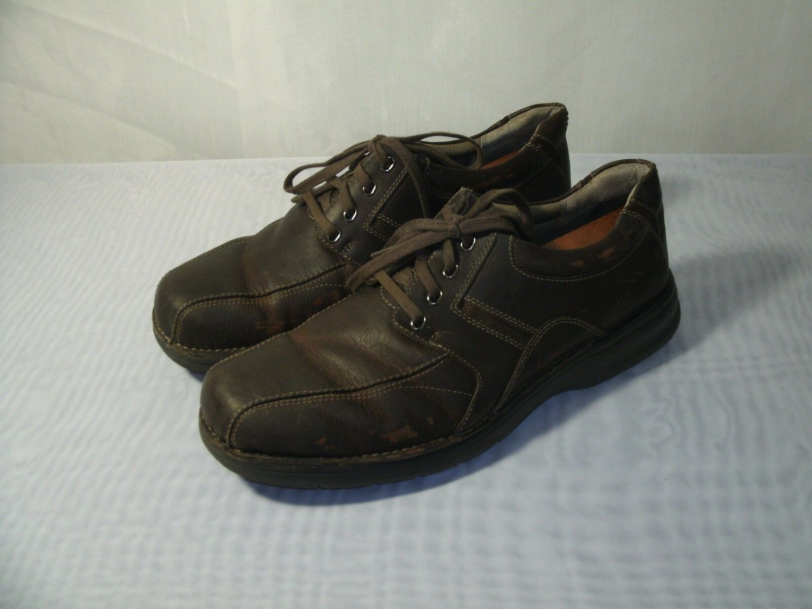 CLARKS NORTHFIELD BROWN LEATHER OXFORD CASUAL SHOES   SIZE US 11.5 MEN'S