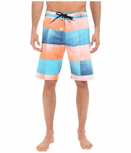 New HURLEY Kingsroad board shorts swim blue orange PHANTOM 4 stretch 30 36