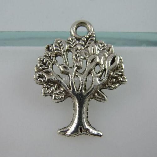 11900 60PCS VINTAGE TONE Vitality tree of life charms plantes Mini Arbre Pendentif
