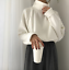 Women-Cashmere-Mink-Fur-Pullover-Sweater-Oversized-Loose-Stretch-Top-Coat-Jacket thumbnail 2