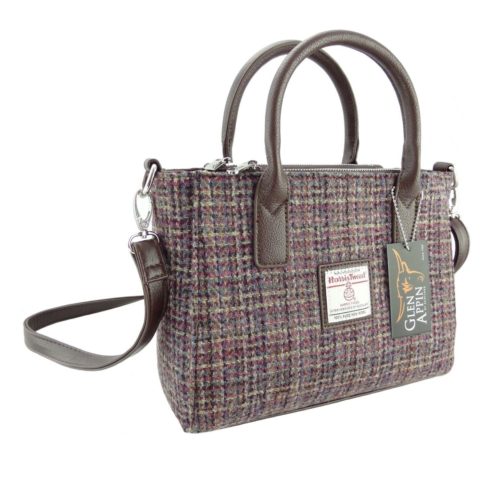 Authentic Ladies Harris Tweed Shoulder Bag Pale Pink LB1000 COL34