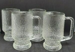 set-of-4-Indiana-Glass-14-oz-Crystal-Ice-Handled-Footed-Mugs