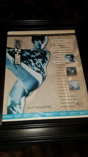 David Bowie Sound + Vision Rare Original Promo Poster Ad Framed!