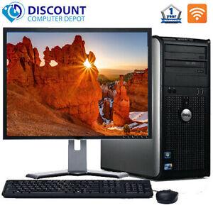 FAST-Dell-Optiplex-Windows-10-Desktop-Computer-Tower-C2D-4GB-DVD-WiFi-17-034-LCD