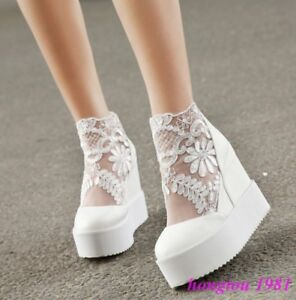 Roman-Womens-Mesh-Lace-Floral-Platform-Wedge-Hidden-Heels-Creeper-Shoes-Sneakers