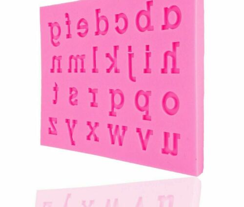 English Alphabet Form Silicone Mold Letter Sugarcraft Candy Clay Chocolate Mould