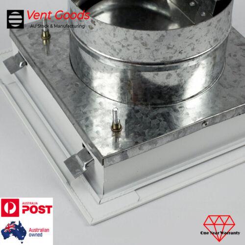 Eggcrate Grille Vent Quick Fix C//W Neck Adaptor Butterfly Damper Exhaust Air