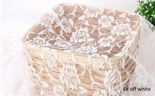 """59.05/"""" Wide Embroidery Rose Flower Lace Fabric DIY Material Wedding Curtain 1 M"""