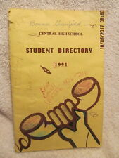1991 Central High School Student Directory Evansville IN Addresses Phone Numbers