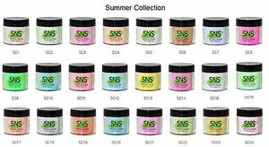Image Is Loading Sns Nail Dipping Powder Summer Color Sc01 Sc24