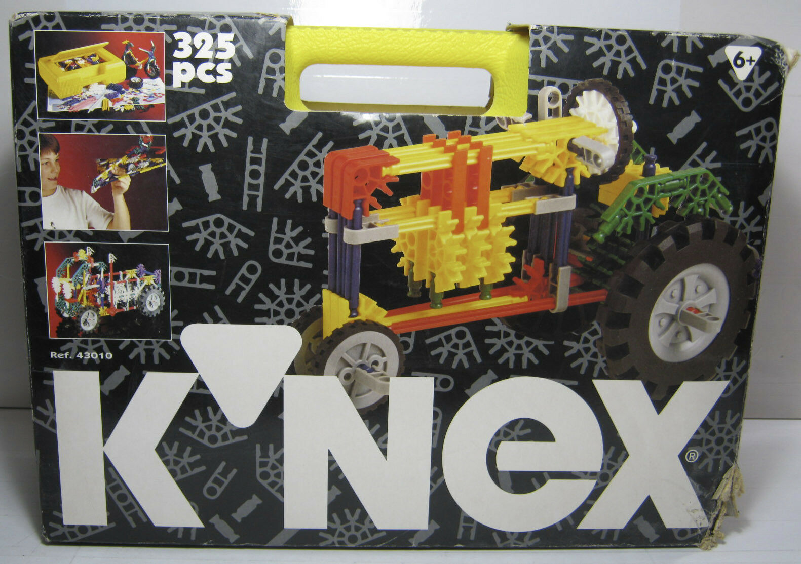 1995 K'NEX KNEX   43010 POWER 3 MODELS 325 PIECES PCS SUITCASE BIG SET MISB NEW