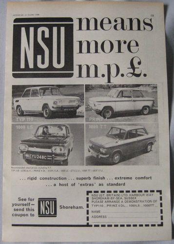 1966 NSU original pub