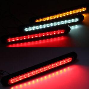 Car Trailer Truck LED white Stop Tail Rear Brake Light Bar 15LED UTE Signal lamp