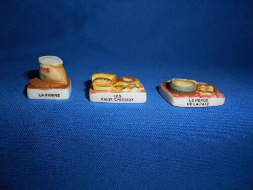 BAKER BREAD Making BAKERY Baking Set of 10 Mini Figurines FRENCH Porcelain FEVES