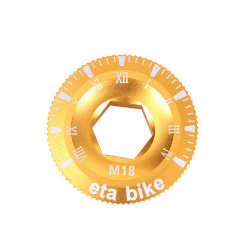 Bottom Bracket Crank Bolt M18//M20 Arm Fixing Bike Bicycle Crankset Cap Cover CNC