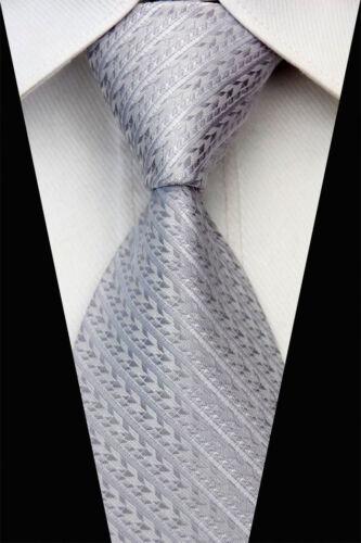 Mens Stripe Dots Classic Jacquard Woven silk Necktie Business Wedding Party Ties