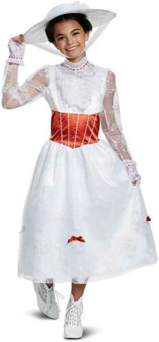 Licensed Mary Poppins Deluxe Dress Movie Character Costume Child Girls