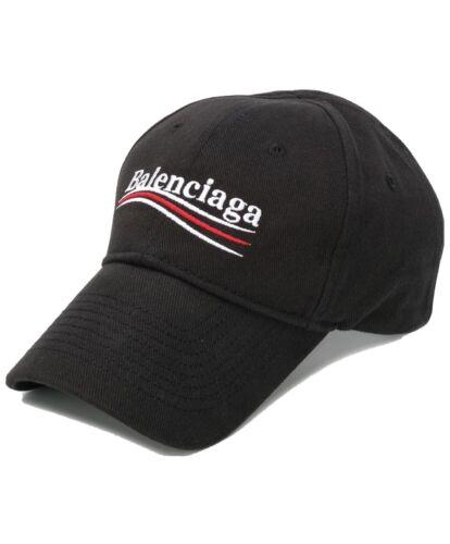 BALENCIAGA Campaign Logo Cap Black Political Baseb