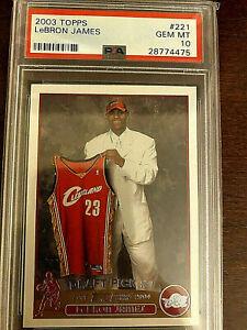 2003 Topps #221 LeBron James RC Rookie Lakers PSA 10 GEM MINT LOW POP