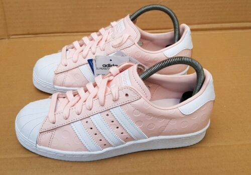 Baskets 80's Superstar Pink taille Uk Nouveau Adidas 4 Magnifiques Dots Bnib Rare Yyvb7g6f