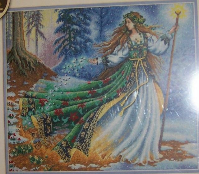 """Woodland Winter Counted Cross Stitch kit 16/""""x12/"""" NEW Dimensions Gold Collection"""