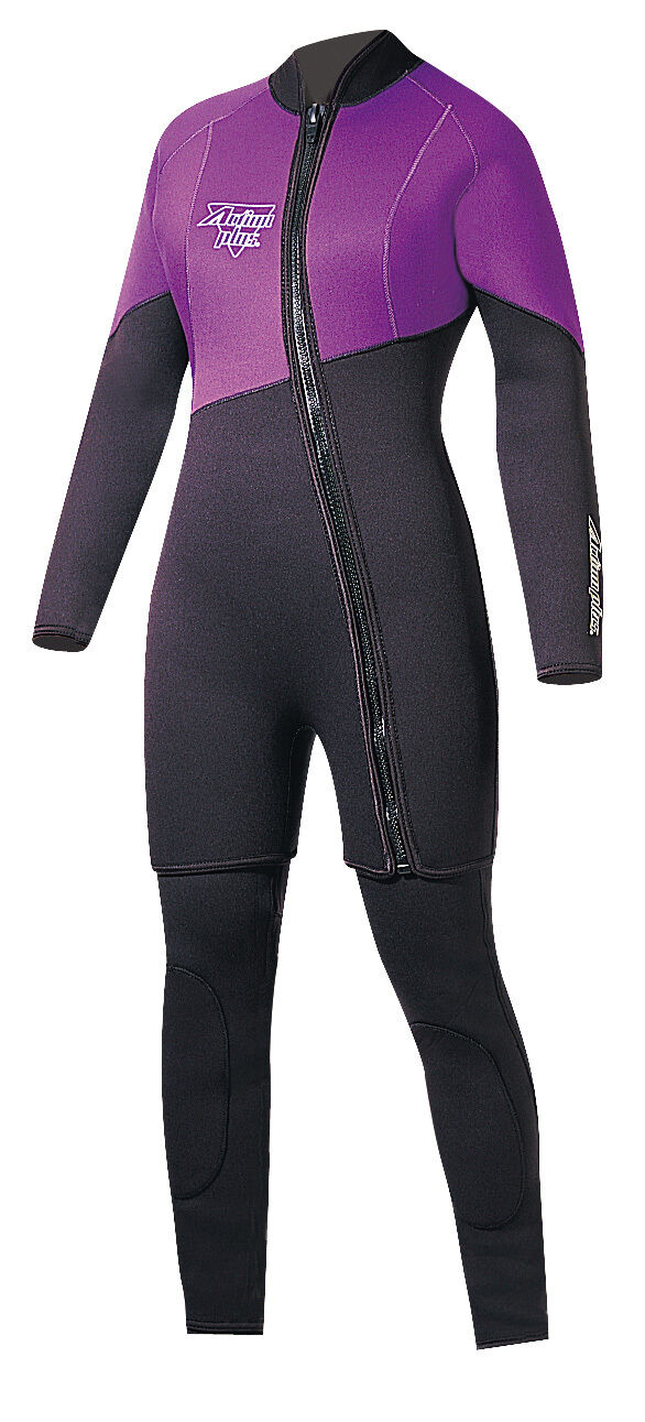 Action Plus Women's 3mm Farmer Jane Two Piece Wetsuit Sz Medium MADE IN USA  PL