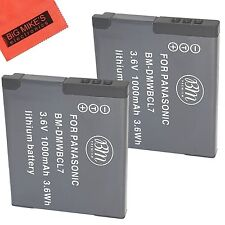 BM DMW-BCL7 2X Batteries for Panasonic Lumix DMC-SZ3,SZ8,SZ10,XS1,FH10,F5