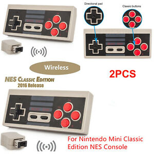 Wireless-Mini-Gamepad-NES-Controller-fuer-Nintendo-Classic-Edition-Konsole-2PCS