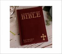 Child's Bible Custom Catholic First Communion Personalized Bibles - 17 Designs -