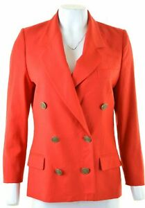 LES-COPAINS-Womens-Double-Brested-Blazer-Jacket-IT-42-Medium-Red-Wool-HS19