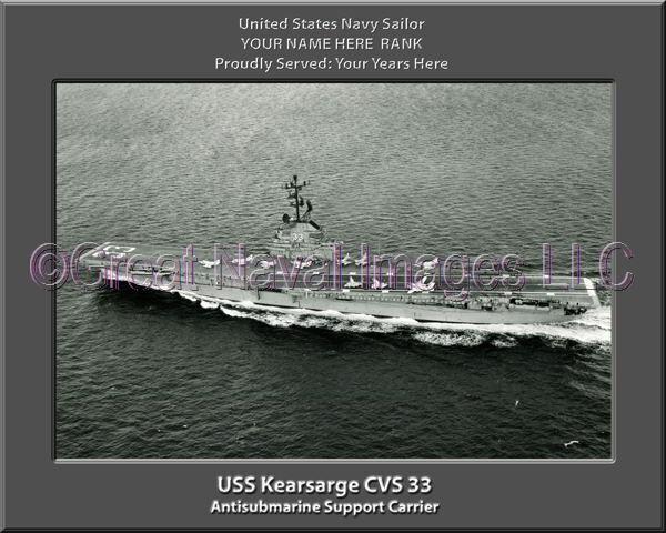 USS Kearsarge CVS 33 Personalized Canvas Ship Photo 3  Print Navy Veteran Gift