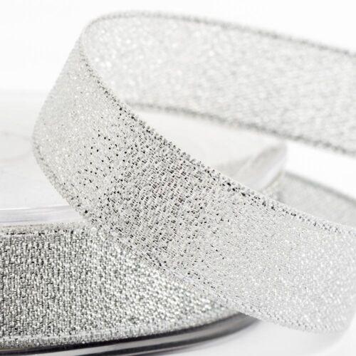 Or argent 25m ruban décoratif lurex 9mm 15mm 25mm Couture Craft