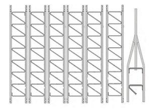 Details about Rohn 25G Series 70' Basic Tower Kit