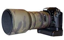 Pentax 200mm f2.8 SMC DA Neoprene lens protection camouflage coat cover Green