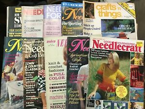 Lot-of-10-Vintage-Needle-Work-Mags-McCalls-Better-Homes-amp-Gardens-1960-039-s-1996
