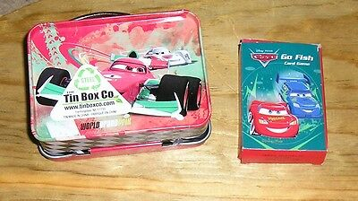 Disney Pixar Cars Mini Grand Prix Tin Steel Lunch Box Deck Playing Cards McQueen
