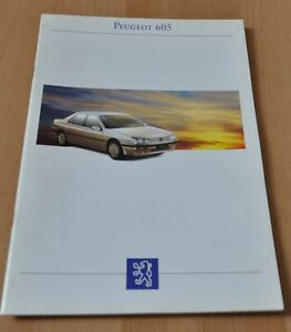 1993 Peugeot 605 Brochure Prospekt Prospectus France/ENG Edition