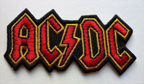 AC//DC ROCK MUSIC SEW OR IRON ON BIKER MOTORCYCLE PATCH 75mm x 35mm