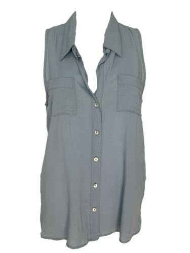4Our Dreamers Blue Chambray Sleeveless Button Down