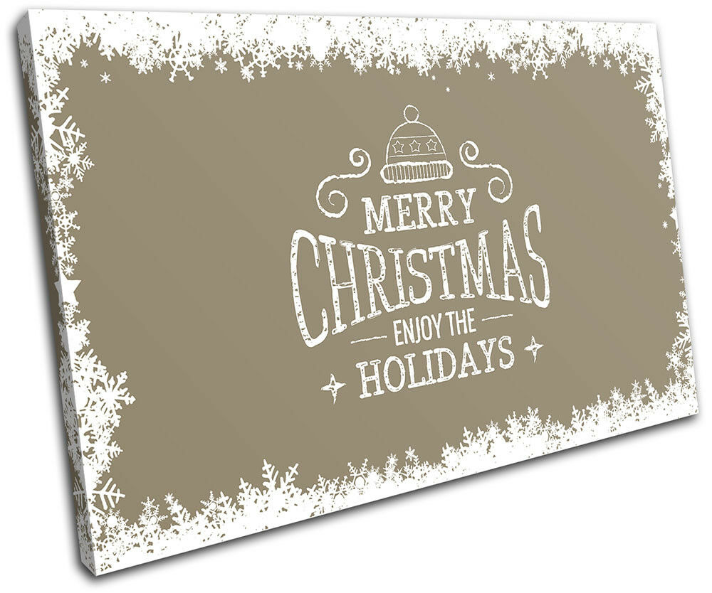 Christmas Decoration Wall Canvas ART Print XMAS Picture Gift  05 Cream Christmas