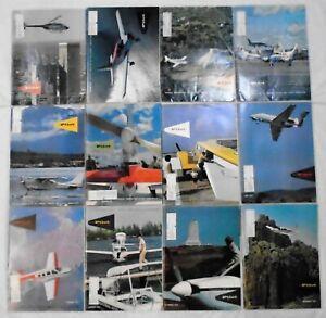 AOPA PILOT AVIATION AIRCRAFT MAGAZINE ENGLISH LOT OF 12 1970-1975 VINTAGE