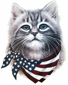 American-Flag-Shirt-Cat-with-Flag-Bandana-4th-of-July-Patriotic-Small-5X