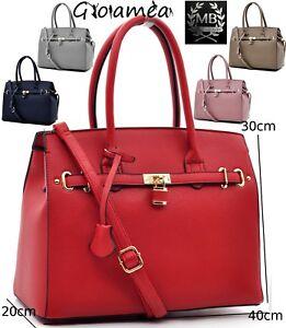 066531d696 Caricamento dell'immagine in corso borsa-vintage-grande-tracolla -SPALLA-donna-pelle-ORIGINALE-