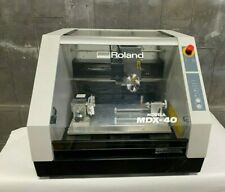Roland Modela Mdx 40 3d Engraver Cnc Mill Desktop Benchtop With 4th Axis Nice