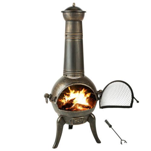 Terrassenofen Gartenofen Guss Ofen Kamin Gartenkamin Feuerstelle Feuerkorb