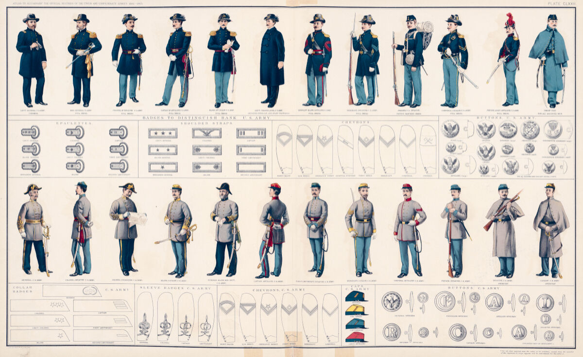 16x20  CANVAS Decor.Art print.U.S Army uniforms Ranks medals badges cap.6178