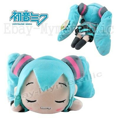 "Hatsune Miku Lying 27cm / 10.8"" Soft Plush Doll Toy Sleeping"