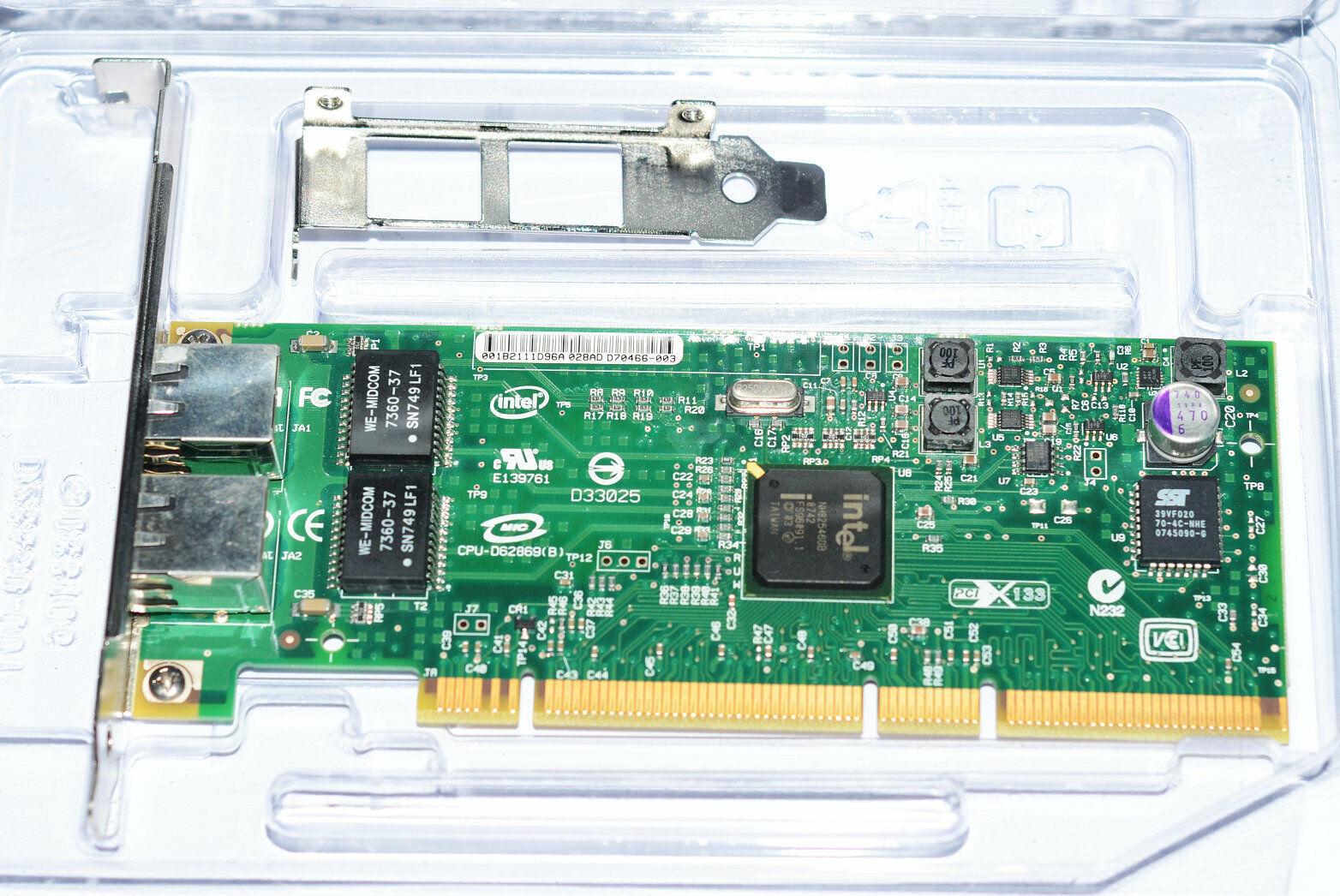 Intel PWLA8492GTG2P20 PRO/1000 GT Dual-Ports PCI-X Network Adapter
