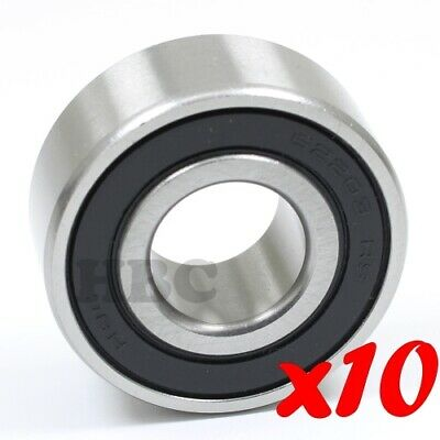 """Stainless Steel Radial Ball Bearing HBC S6205-2RS-16 2 Seals 1/"""" 25.4x52x15mm"""